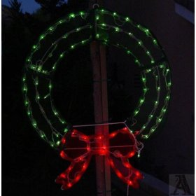 Gigantic lighted christmas outdoor tree wreath for Led wreath outdoor