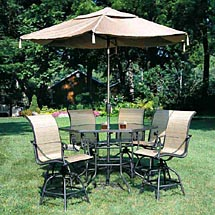 River Delta I 7 Piece Bar Height Patio Furniture Set River Delta I 7 Piece  Bar