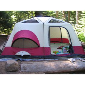 Columbia Cougar Flats Six to Eight-Person Two-Room Cabin Tent  sc 1 st  Better Home Improvement : two room tent - memphite.com