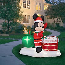 Santa Mickey Mouse by the Chimney Airblown Inflatable, 5′ Tall ...