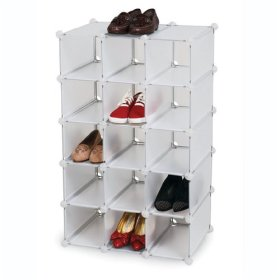 Wonderful Storage Solutions 15 Pr. Shoe Cubbies   Frost Nice Design