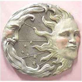 Sun And Moon Wall Decor sun, moon, star wall plque - betterimprovement