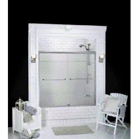 Supreme Sliding Shower Door Basco Obscure Glass Almond