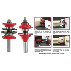Freud 99 267 1 2 Shank Carbide Titanium Entry Interior Door Router Bit System