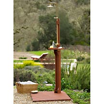 delahey wooden outdoor shower Delahey Wooden Outdoor Shower