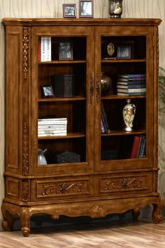 double bookcase with glass doors Heirloom 64H Double Bookcase with Glass Doors