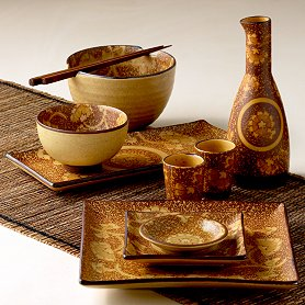 Collection of sushi dinnerware features a traditional Asian floral motif in dark brown on a soft neutral background. Dolomite is dishwasher and ... & Better Home Improvement Gadgets - Reviews - Part 1318