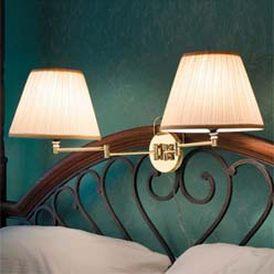 His Her Headboard Lamp Set