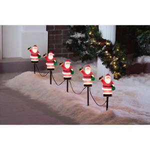 Home Accents Holiday 5 Light C7 Mini Lawn Stakes