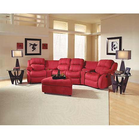milo red 5 piece home theater package better home improvement. Black Bedroom Furniture Sets. Home Design Ideas