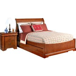 Oberon Cherry Twin Sleigh Bed