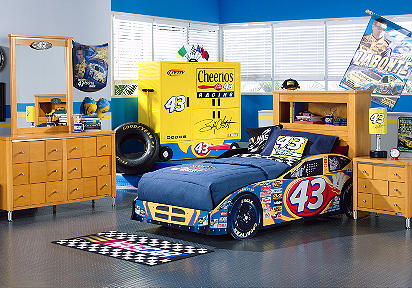 NASCAR Bobby Labonte 3 Pc Twin Bookcase Car Bedroom