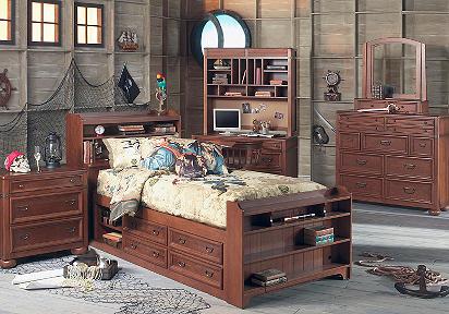 Disney Pirates 4 Pc Full Captains Bedroom