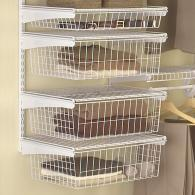 Great ClosetMaid 4 Sliding Basket ShelfTrack Kit
