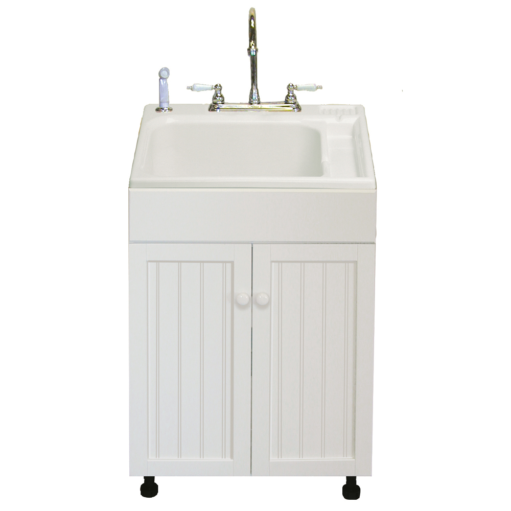 home depot laundry sink with cabinet