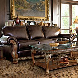 Bellagio Leather Sofa Group
