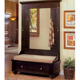 Delightful Black Hall Tree With Bench Storage