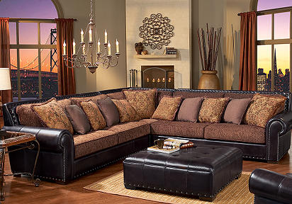 Exceptionnel Better Home Improvement Gadgets Reviews Part 1300. Chenille Leather  Sectional Sofa ...