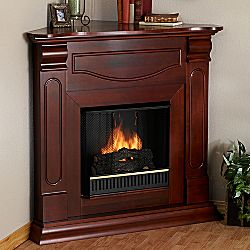 Superb Cambridge Corner Mahogany Fireplace