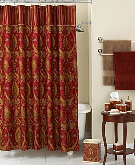Bath collections for Red and gold bathroom accessories