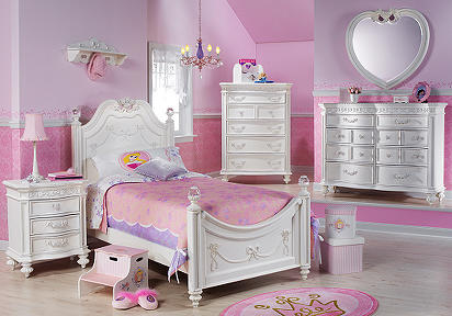 Disney Princess White 4 Pc Twin Poster Bedroom