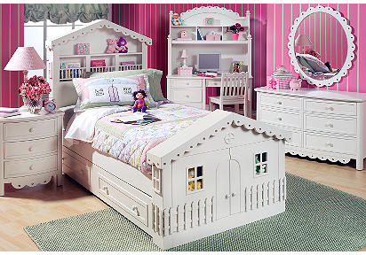 Doll House 4 Pc Twin Storage Bedroom