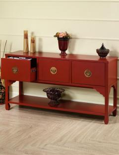 Wuchow Three Drawer File Console
