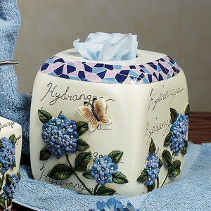 Hydrangea Ceramic Bath Accessories