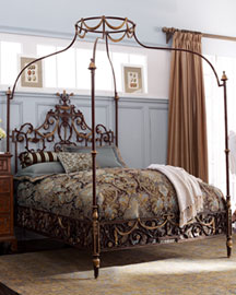 canopy bed frame queen gothic dark metal canopy bedframe with - Iron Canopy Bed Frame