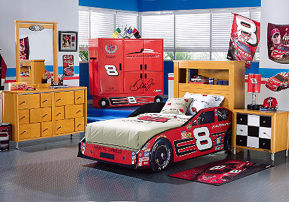 Nascar Bedroom Furniture Nascar Dale Earnhardt Jr3 Pc Twin Bookcase Car Bedroom .