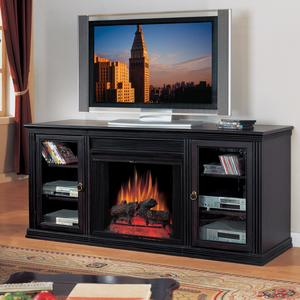 Paramount Media Center With Electric Fireplace