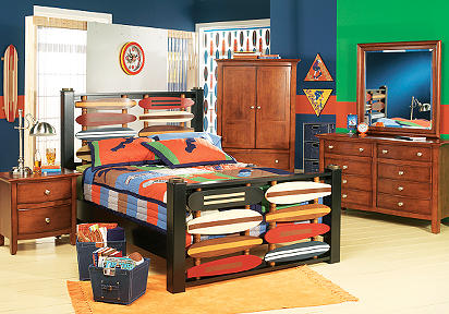 Skateboard 4 Pc Twin Bedroom