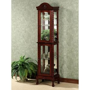 wakefield carved curio cabinet