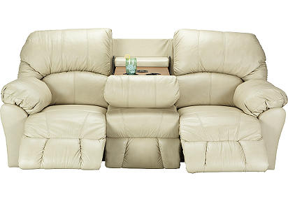Benson Granite Leather Match Motion Sofa