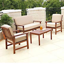 delahey 4 piece outdoor seating set Delahey 4 Piece Outdoor Seating Set