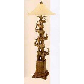 Stacked Elephants Floor Lamp