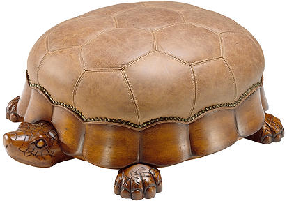 Turtle Leather Ottoman Better Home Improvement Www