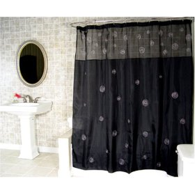 Cool Black Shower Curtain