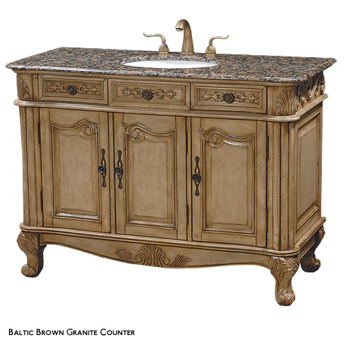 cambridge wood single bathroom vanity Cambridge 48 Wood Single Bathroom Vanity