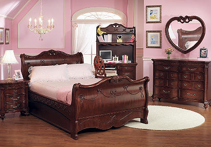 4 Pc Twin Sleigh Bedroom