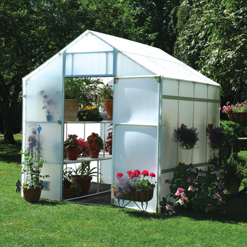 Garden master 8 foot x 16 foot x 8 foot 9 inches for Better homes and gardens greenhouse