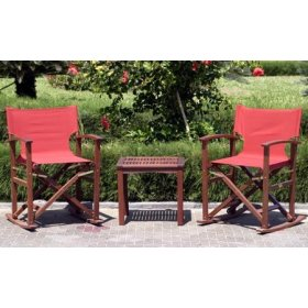 Outdoor Wood Patio Bistro Furniture Set