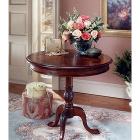 Plantation Cherry Collection Round Designed Accent Table