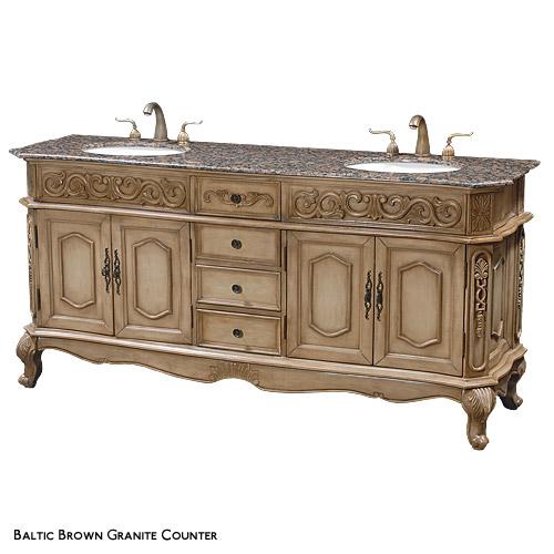 """""""Plymouth""""  Wood Bathroom Double Vanity"""
