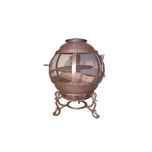 Uniflame Antique Rust Cast Iron Outdoor Fireplace
