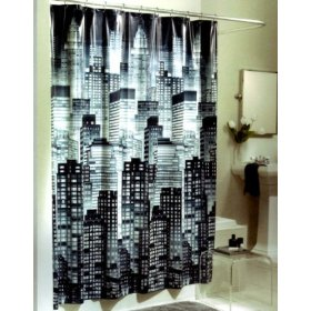 Black And Teal Shower Curtain. Love the Black White and Teal ...