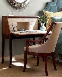 Witten Secretary Desk Upholstered Chair
