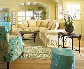 Baldwin Slipcover Living Room Furniture Collection
