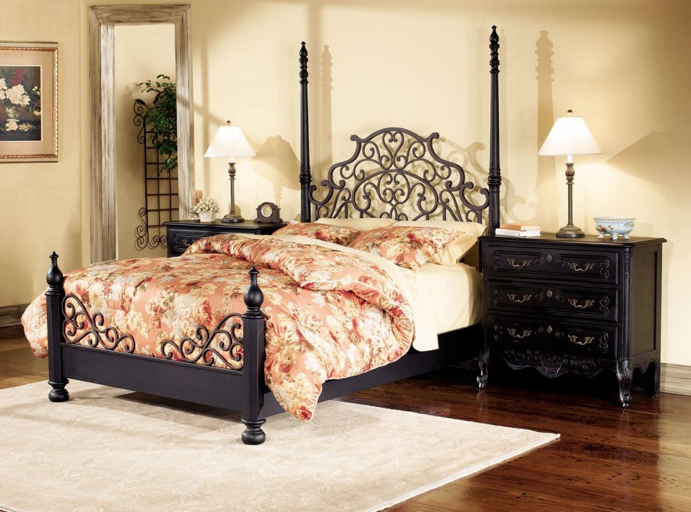Antique Bedroom Sets On Bedroom Furniture Set In Antique Black