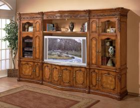 Big Screen TV entertainment Center with Marble Top Cart | Better